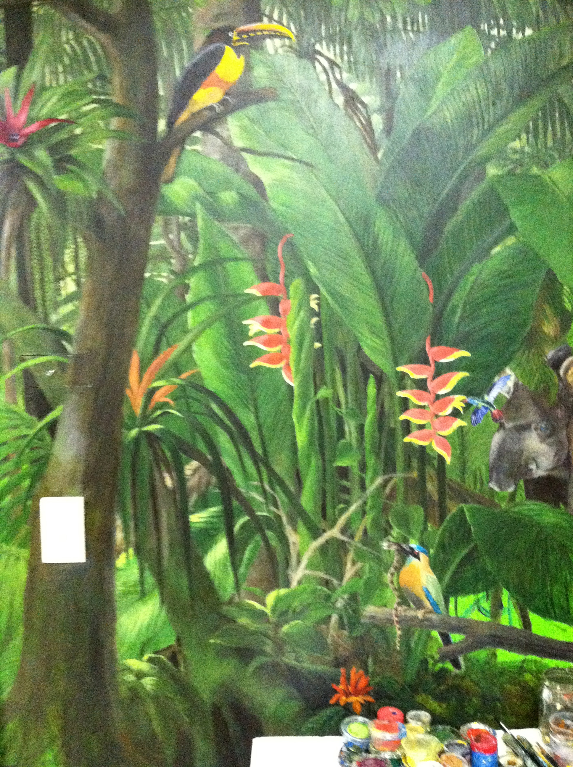 This is a portion of a painting done on the wall of our shop.  Thanks Jane Gaughran!